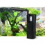 2W Rain Style 3 in 1 Aquarium Fish Tank Pumping Oxygen Increasing Water Purifier, US Plug(Black)