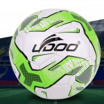 Ballon vert 19cm cuir PU couture portable Football Match Fluorescent - Wewoo