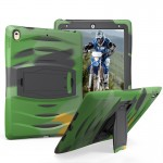Coque rigide iPad Pro 10.5 pouces Wave Texture Series PC + Silicone étui de protection avec support Army Green - wewoo.fr