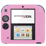 Rose pour Nintendo 2DS Coque en Silicone Ultra Fin Pure Color - Wewoo