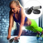 Folding Abdominal Roller Round Home Office Mute Fitness Equipment Sports for Man / Woman (Black)