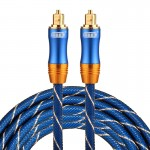 EMK LSYJ-A 3m OD6.0mm Gold Plated Metal Head Toslink Male to Male Digital Optical Audio Cable