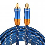 EMK LSYJ-A 5m OD6.0mm Gold Plated Metal Head Toslink Male to Male Digital Optical Audio Cable
