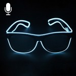 New Style LED Multi-color Fluorescent Glow Glasses EL Flashing Glasses, Sound Control Type, Random Color Delivery