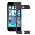 iPartsBuy for iPhone 5S Front Screen Outer Glass Lens(Black)