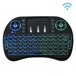 2.4GHz Mini i8 Wireless QWERTY Keyboard with Colorful Backlight & Touchpad & Multimedia Control for PC, Android TV BOX, X-BOX Pl