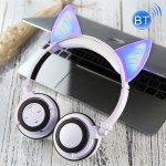 Foldable Wireless Bluetooth V4.2 Glowing Cat Ear Headphone Gaming Headset with LED Light & Mic, For iPhone, Galaxy, Huawei, Xiao