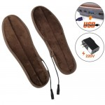 USB Electric Powered Heated Insoles Keep Feet Warm Pad with USB Cable & Power Adapter, Size: 41-42 yard(Brown)