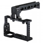 PULUZ Camera Cage Handle Stabilizer for Sony A6300 / A6000 (Black)