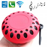 Outdoor Sports Portable Waterproof Bluetooth Speaker with Hang Buckle, Hands-free Call, NFC Function, BTS-25OK(Red)