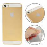 Coque Transparent pour iPhone 5 & 5s & SE 0.3mm Ultra Mince Matériaux TPU Protection Shell - Wewoo