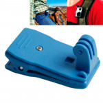 TMC 360 Degree Rotation Backpack Rec-Mounts Clip Clamp Mount for GoPro HERO4 / 3+ / 3 / 2 / 1(Blue)