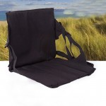 Outdoor Folding Seat Cushion With Backrest, Size: 78*40*2cm(Black)