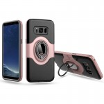 For Samsung Galaxy S8 / G950 Dropproof Full Coverage Protective Case Cover with Magnetic Rotatable Ring Holder (Pink)