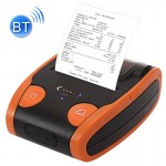 Etiqueteuse Orange Imprimante thermique de reçu de position de Bluetooth de 58mm portatif - Wewoo