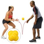 Hexagonal Reaction Ball Quickness and Agility Training Ball, Training Hand and Eye Coordination (Yellow)