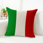 Italy National Flag Pattern Cotton Linen Pillow Case, Interior Pillow Not Included, Size: 45*45cm