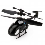 QINSONG QS5012 2CH Infrared Mini RC Helicopter, Size: 9cm x 5cm x 2cm (Black)