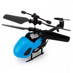 QINSONG QS5012 2CH Infrared Mini RC Helicopter, Size: 9cm x 5cm x 2cm (Blue)