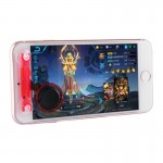 Direct Mobile Games Joystick Artifact Hand Travel Button Sucker for iPhone, Android Phone, Tablet(Red)