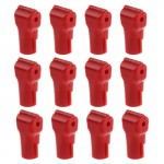 12 PCS 6.0mm Red ABS Display Hook / Security Lock Hook