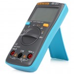 ZT98 CAT III 600V Portable Digital Multimeter 2000 Counts Back-light AC / DC Current Voltage Tester Meter with LCD Screen & Hol