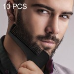 10 PCS L Shaped Beard Shaper Facial Hair Shaping Tool, Random Color Delivery