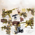 KAZI Wolf Military Army Field Team Soldiers Weapon Building Block Educational Toys, Age Range: 6 Years Old Above