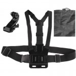 ST-139 Elastic Adjustable Chest Strap Belt (Type B) with J-shaped Bracket & Pouch for GoPro HERO4 /3+ /3 /2 /1(Black)