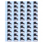 50 PCS iPartsBuy for iPhone 7 Plus LCD Back Metal Plate Large Stickers