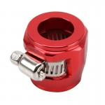 AN10 Car Performance Aluminum Accessories Adapter Nitrite Hose Finisher Adapter Nylon Braided Hose Clamp Red Finish