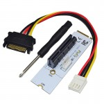 NGFF M.2 Key M to PCI-E 1X / 4X / 8X / 16X Graphics Card Mining Slot Adapter Riser Converter Card with LED