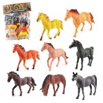 1281 8 in 1 Cute Horses Decoration Toys Set