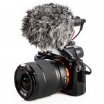 BOYA BY-MM1 Cardioid Condenser Microphone with Windshield for Smartphones, DSLR Cameras and Video Cameras(Black)