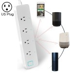 10A Home Smart WiFi Power Strip Surge Protector 4 Outlet Wireless Power Extension Socket, Support APP Operation & Timing Switch,