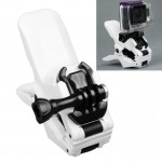 TMC Jaws Flex Clamp Mount with Buckle & Thumb Screw for GoPro Hero 4 / 3+ / 3 / 2 / 1(White)