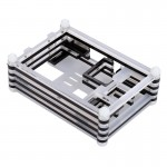9 Layers Acrylic Box Shell Case with Cooling Fan Hole for Raspberry pi 3(Black)